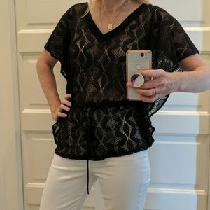 Ella Moss lace wing sleeve blouse